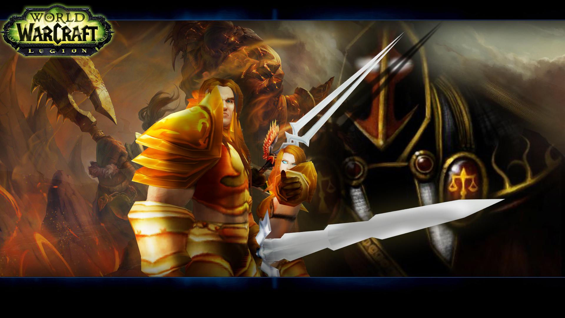 魔兽玩家自制英雄榜人物角色桌面壁纸作品分享