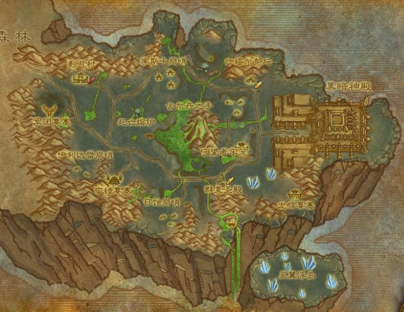 时代变了!魔兽玩家自制德拉诺到外域的变迁图