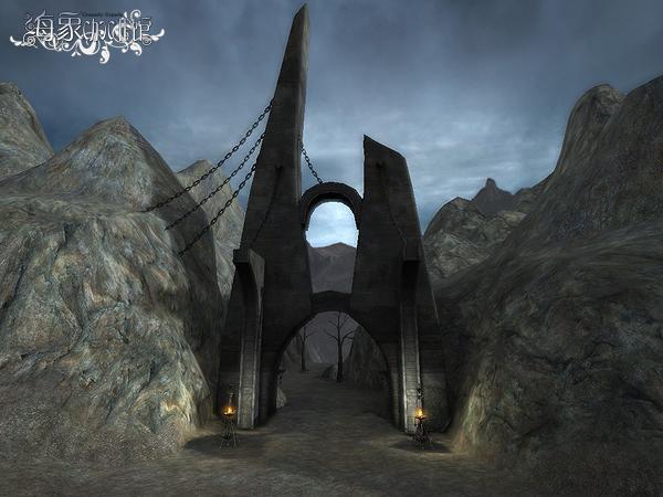 游戏山谷背景灰黑素材