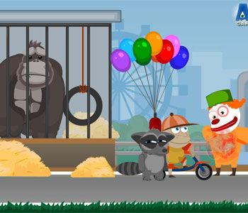 浣熊逃出动物园小游戏_玩玩小游戏_新浪玩玩_新浪网
