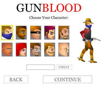 牛仔手枪矢量图