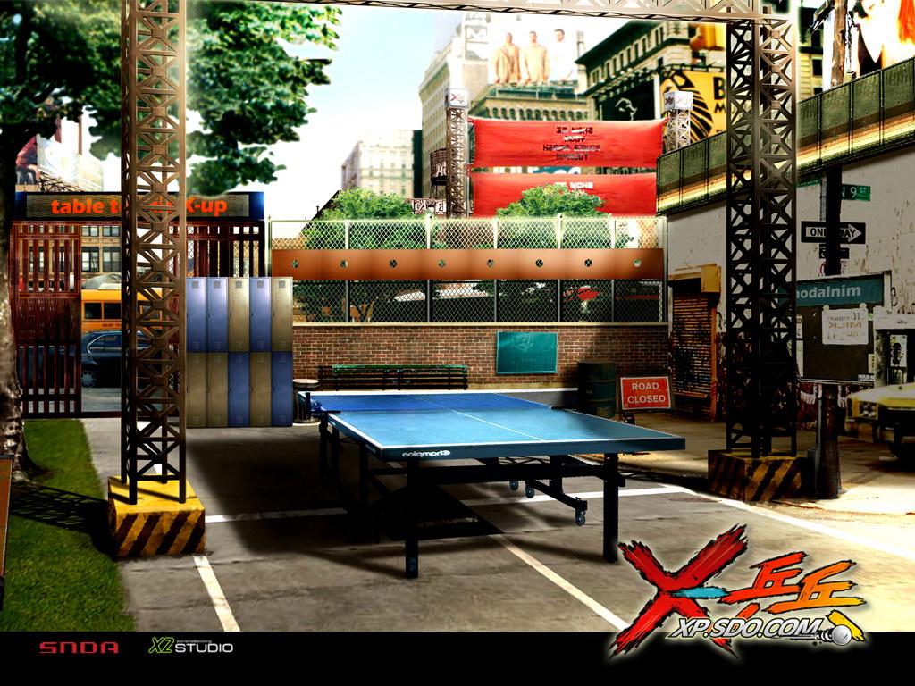 《X-乒乓》场景地图原画
