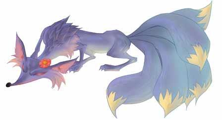 九尾灵狐花臂纹身分享展示