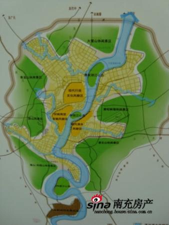 2020年 南充城市人口目标120万