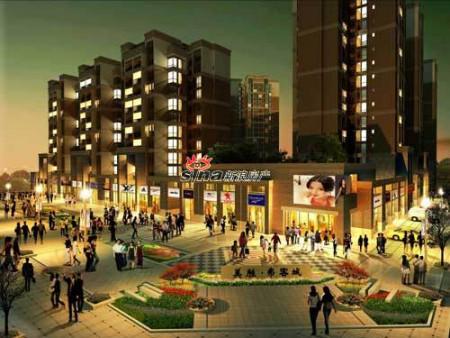 项目总建面12万方,地面建筑10万方,商业配套2000多方,集中商业二层和
