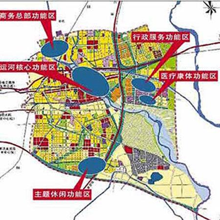 图为通州新城规划图-北京东部置业 首选三大楼盘