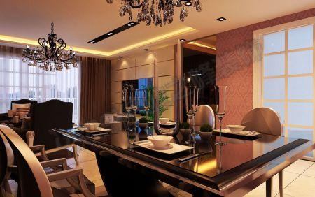 欧式豪宅餐厅背景