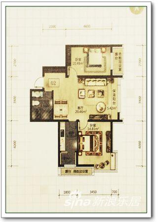 66平方米户型图