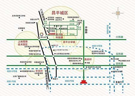 图为尚北青年公寓位置图