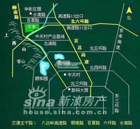 图为香江别墅二期位置图