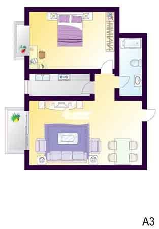 图为CAGO公寓户型图