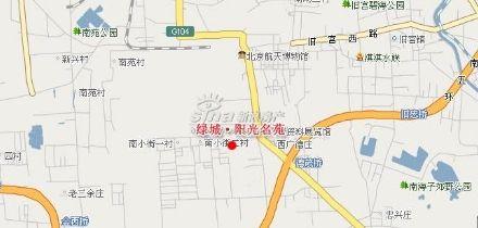 图为绿城阳光公馆项目位置图