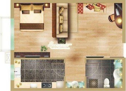 图为soco公社项目一居室户型图