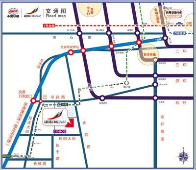 中国铁建长阳国际城位置图