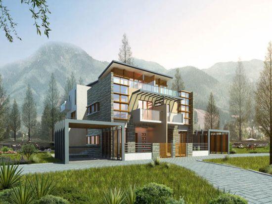瑞亨半山1号预计5月推148-443平米各式别墅(图)图片