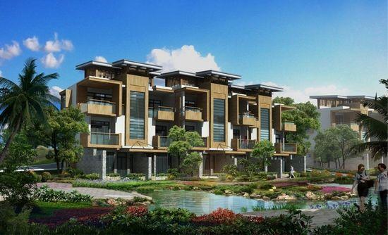 原生态热带雨林溪谷,紧邻石梅湾,小区园林景观由新加坡著名景观规划