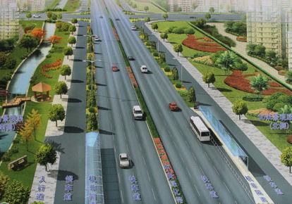 环岛交通也将被改造变为信号灯控制的平交路口,路口设4个导流岛,为行
