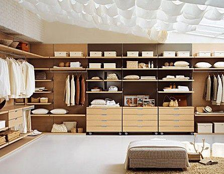 整体衣柜:开放式更衣间板式结构