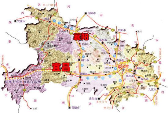 湖北襄阳地图全图 湖北襄阳地图卫星图片