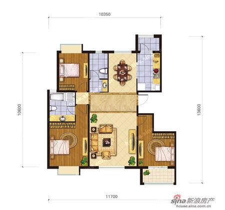 其中138平米三室两厅两卫一厨的主力户型共226套,230平米的顶层复式共图片