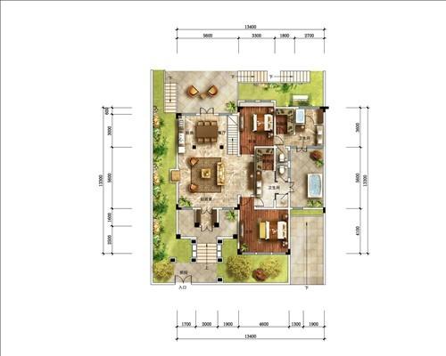 最新别墅户型图