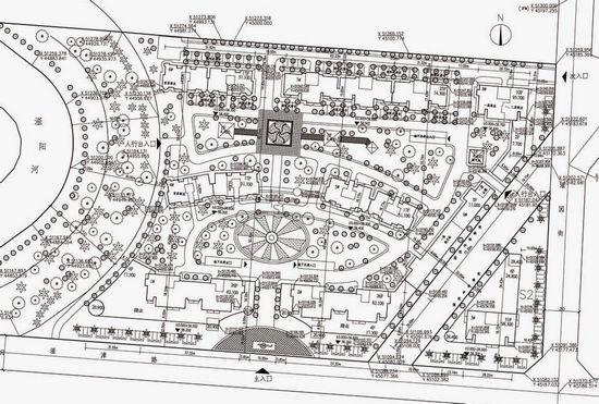 现对该拟建项目设计方案的总平面图予以现场公示,同时在邯郸城乡规划