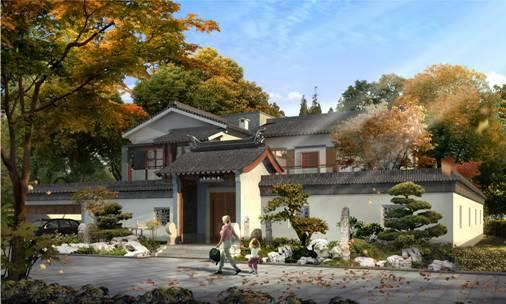 从传统中式庭院中衍生而来的新中式,美了时光图片