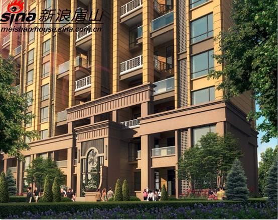图为鹭湖国际高层住宅富丽堂皇的入户门厅外观 高清图片