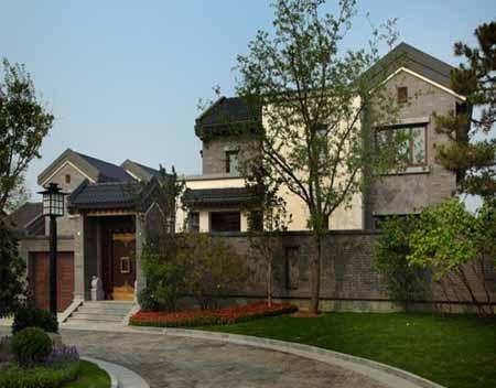 吸纳西方现代生活的流线,回归真正属于中国人的中式别墅庭院生活!广东别墅东莞图片