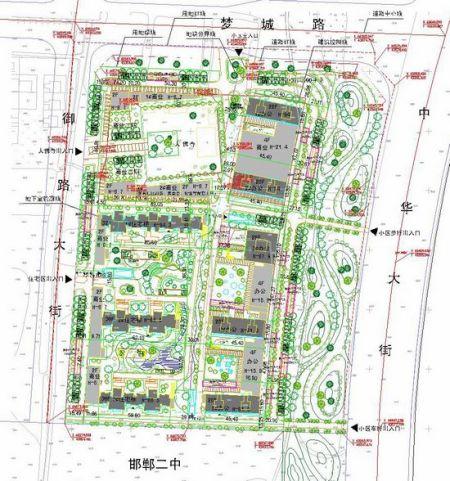 邯郸公示安联印象商住小区规划设计方案 高清图片