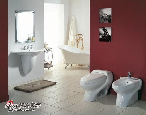灵动色彩卫浴样板间