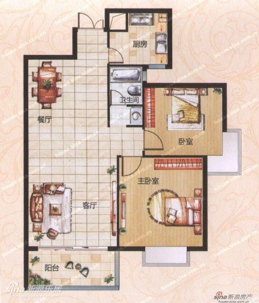 C2两室两厅一卫96.4平米