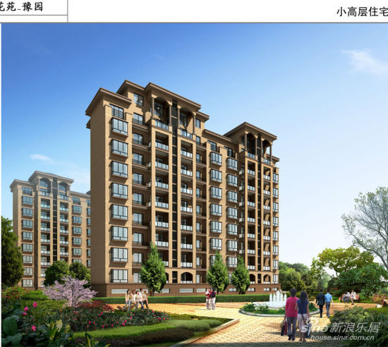 长江花苑豫园小高层住宅效果图 高清图片
