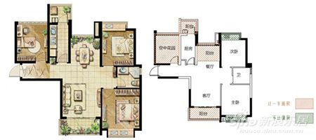 A2户型89O 全明通透三房两厅