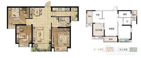 A户型约90O 大面宽全向阳三房两厅