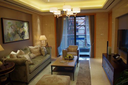 绿城兰园170方精装修样板房客厅