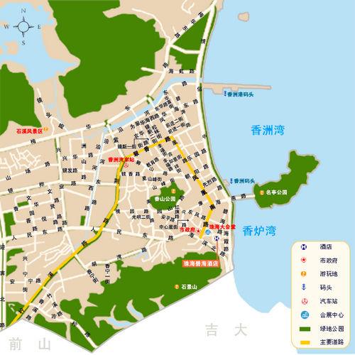 珠海市手绘地图