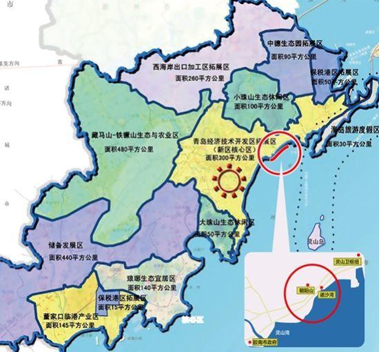 青岛胶南行政区划图