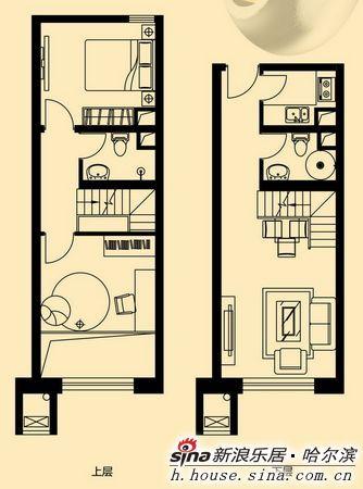 图为学伟国际城a4loft户型2室1厅2卫1厨47.28平米户型图