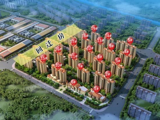 项目东区有19栋房源组成,其中1,6号楼为社区自建的幼儿园及商业,其他