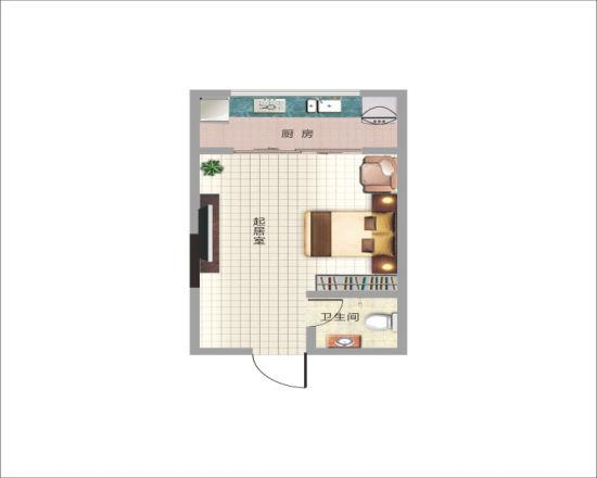 单身公寓34.15平米