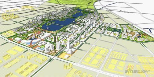 图为南京禄口空港新城规划图-空港新城 不是建一个机场那么简单