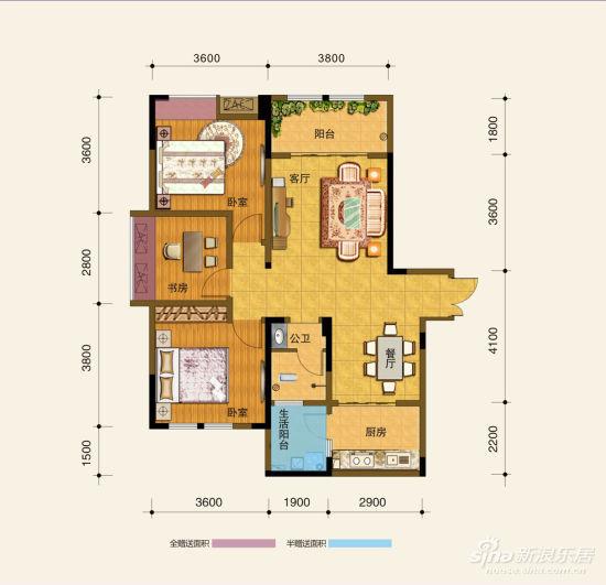 主推70-110平米套二套三户型   项目现在售一号楼,70-110平米2-3居室房源均价6700元/平米起,总价54万起,现购房即送10年地下停车位,楼盘的六个户型几乎都有将近6平米的赠送。   小编推荐:A1户型 三室两厅一卫 面积98平米 实得103平米
