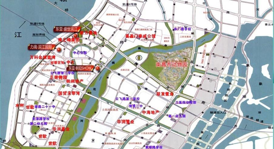 南昌市朝阳大桥 南昌红谷隧道规划图 南昌红谷隧道规划图