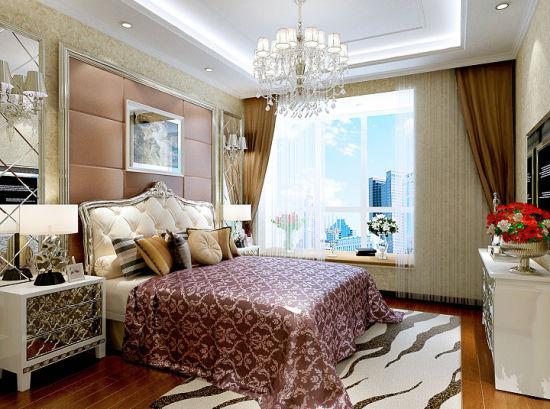 欧式蓝调卧室装修图