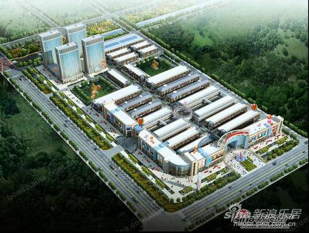 万坤国际五金建材家居广场项目鸟瞰图