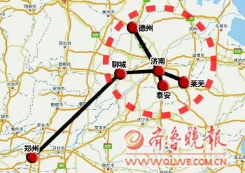 山东青荣铁路地图