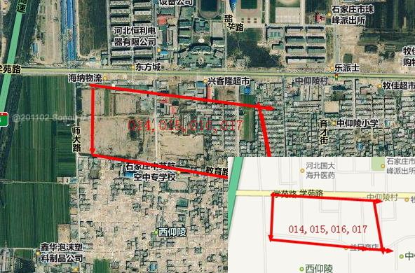 一亩地是几平方米_209平方米 规划用途: 住宅,商服 四至范围 西仰陵旧村改造地块,东至中