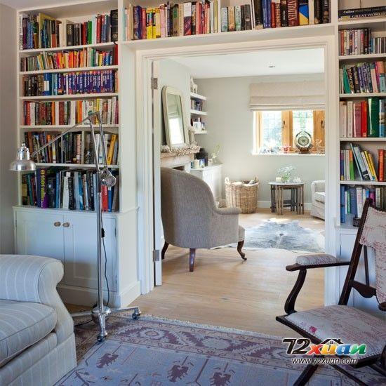 书柜和客厅的完美融合