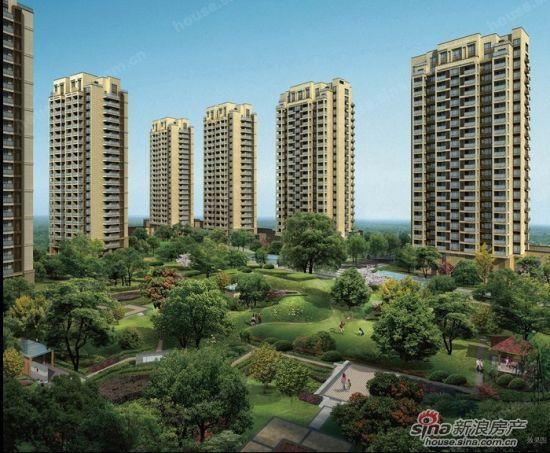 全点式高层,8座架空层泛会所,空中走廊,森林主题私家公园,私家湖景